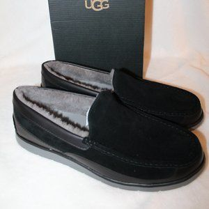 UGG MEN'S FASCOT SUEDE LEATHER SLIPPER SHOES 12